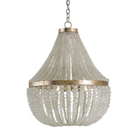 Currey & Company Chanteuse 3 Light Chandelier in Silver Granello 9202