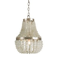 Currey & Company Chanteuse Petit 1 Light Chandelier in Silver Granello 9203