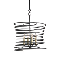 Currey & Company Nebula 4 Light Chandelier in French Black 9204