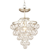 Currey & Company 9205 Astral 1 Light 15 inch Contemporary Silver Leaf Pendant Ceiling Light