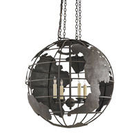 Currey & Company Mondo 4 Light Chandelier in Mole Black 9208