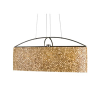Currey & Company Grove 3 Light Chandelier in Hiroshi Gray and Natural 9213