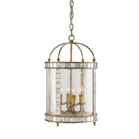 Currey & Company Corsica 4 Light Lantern in Harlow Silver Leaf 9229