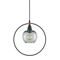 Currey & Company Moorsgate 1 Light Pendant in Blacksmith and Old Brass 9233