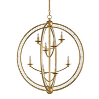 Dauphin  8 Light 37 inch Aged Gold Leaf Chandelier Ceiling Light