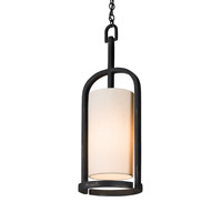 Currey & Company Colwyn 1 Light Pendant in French Black 9238