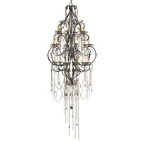 Currey & Company Antiquity 18 Light Chandelier in Old Iron/Aged Brass 9258