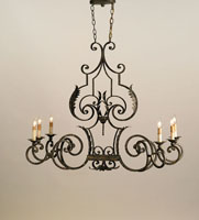 Currey & Company Assurance 6 Light Chandelier in Antique Gold Leaf 9259