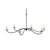 Currey & Company 9267 Saxon 6 Light 63 inch Zanzibar Black Chandelier Ceiling Light