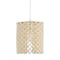 Currey & Company Dumaine 1 Light Pendant in Ivory and Natural 9268