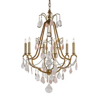 Currey & Company Fairytale 6 Light Chandelier in Italian Gold Leaf 9271