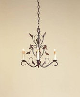 Currey & Company Arcadia 3 Light Mini Chandelier in Hand Rubbed Bronze 9272