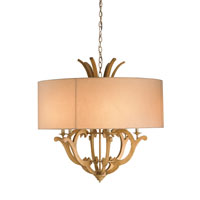 Currey & Company Wellington 6 Light Chandelier in Wash Wood 9274