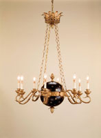 Liberty  8 Light 37 inch Old Brass/Black Chandelier Ceiling Light
