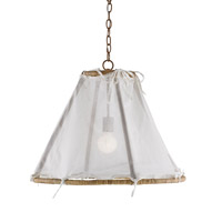 Currey & Company Gigi 1 Light Pendant in Khaki and Natural 9286