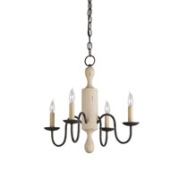 Currey & Company Antwerp 4 Light Chandelier in Oyster Cream and Old Bronze 9287