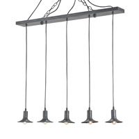 Currey & Company Grier 5 Light Chandelier in French Black 9296