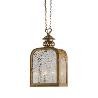 Currey & Company Mercer 2 Light Hanging Lantern in French Gold Leaf 9300