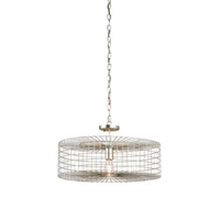 Dusklight 1 Light 22 inch Silver Leaf Pendant Ceiling Light
