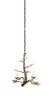 Currey & Company Treetop 4 Light Chandelier in Old Iron 9307
