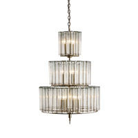 Currey & Company Bevilacqua 12 Light Chandelier in Silver Leaf 9309