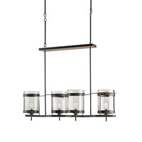 Currey & Company Quartermaine 4 Light Chandelier in Bronze Gold 9310