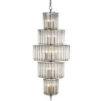 Currey & Company Bevilacqua 18 Light Chandelier in Silver Leaf 9311