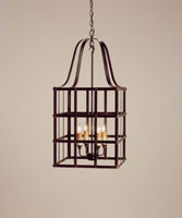 Currey & Company Boulevard 4 Light Chandelier in Old Iron 9316