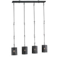 Currey & Company Whitton 4 Light Chandelier in Mole Black 9317