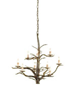Currey & Company Treetop 9 Light Chandelier in Old Iron 9327
