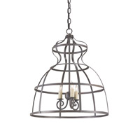 Currey & Company Frock 3 Light Chandelier in Bronze Gold 9331