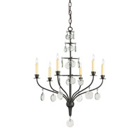 Currey & Company Seti 6 Light Chandelier in Old Iron 9337