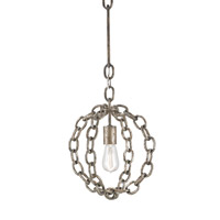 Currey & Company Lugo 1 Light Pendant in Pyrite Bronze 9340