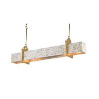 Currey & Company Oasis 4 Light Chandelier in Contemporary Gold Leaf and Natural Hammer 9342