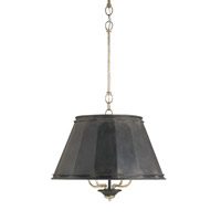 Currey & Company Eathorpe 4 Light Chandelier in Black Smith and Silver Granello 9345