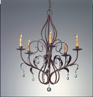 Currey & Company Eden 5 Light Chandelier in Venetian 9352