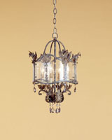 Currey & Company Zara 4 Light Pendant in Viejo Gold/Silver 9357
