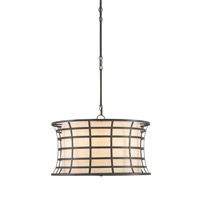 Currey & Company Coleville 3 Light Chandelier in Bronze Gold 9363