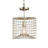 Currey & Company Dusklight 1 Light Pendant in Silver Leaf 9364