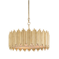 Currey & Company Imogen 3 Light Chandelier in Contemporary Gold Leaf 9367