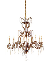 Currey & Company Sophia 9 Light Chandelier in Rhine Gold 9374