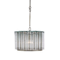 Currey & Company Bevilacqua 1 Light Pendant in Silver Leaf 9375