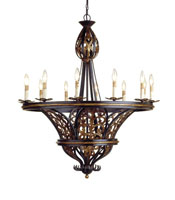 Exposition  37 inch Old Iron/Old Brass Chandelier Ceiling Light