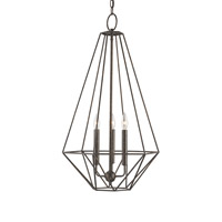 Currey & Company Diamante 3 Light Chandelier in Burnt Brown 9383
