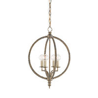 Currey & Company Marcello 4 Light Chandelier in Nevo Oro Antico 9386