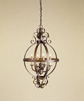 Currey & Company Coronation 4 Light Chandelier in Cupertino/Gold Leaf 9390