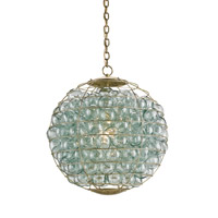 Currey & Company Pastiche Orb 1 Light Chandelier in Dutch Gold 9395