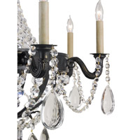 Currey & Company Sydney 8 Light Chandelier in French Black 9396