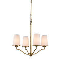 Currey & Company Howard 4 Light Chandelier in Gilt Bronze 9398