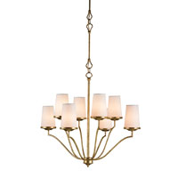 Currey & Company Howard 8 Light Chandelier in Gilt Bronze 9399